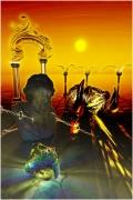 art numerique abstrait henri iv flammes : HenrIV propheties (40x60)