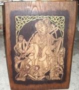 tableau personnages celtique personnages gravure bois : celtique