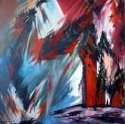 tableau abstrait : paysage