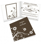 autres fleurs fairepart faire part mariage invitation : Faire-Part : Mariage n°30
