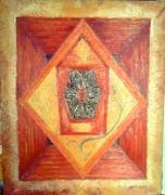 tableau abstrait radionique toile zodiaque huile : Trou noir