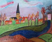 tableau paysages : VILLAGE ALSACIEN