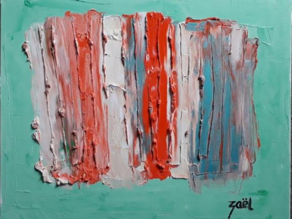TABLEAU PEINTURE Abstrait Peinture a l'huile  - L'ART ET LA MATIERE