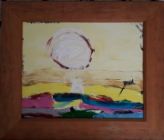 tableau paysages paysage : HERE COME THE SUN