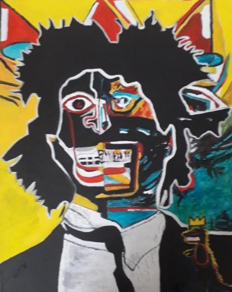 TABLEAU PEINTURE Personnages Peinture a l'huile  - BASQUIAT