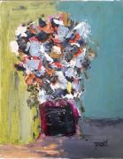 tableau nature morte : BOUQUET FLEURI