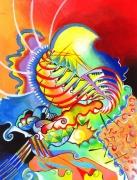 tableau abstrait chromatisme abstraction : Fantaisie chromatique n°6