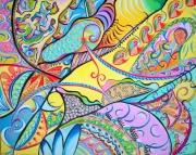 tableau abstrait : Fantaisie chromatique n°4
