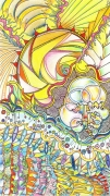 dessin abstrait soleil mer : Cristaux marins