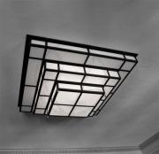 deco design architecture art deco luminaire plafonnier eclairage des annees : Tesseract 1200