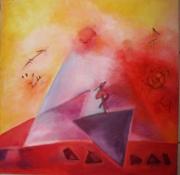 tableau abstrait : Trilogique
