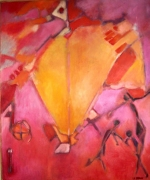 tableau abstrait : Vulcain