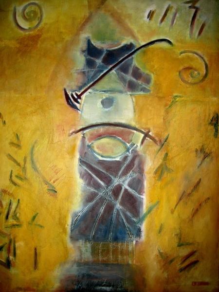 TABLEAU PEINTURE Abstrait Peinture a l'huile  - Le grand sage