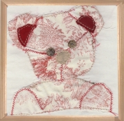 art textile mode animaux patchwork : Ourson