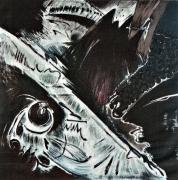 tableau abstrait : broyer du noir
