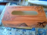 bois marqueterie paysages bois marron decoration : les pyramides