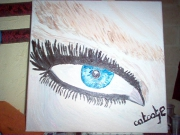tableau personnages toile oeil decoration blanc : l oeil qui vous regar