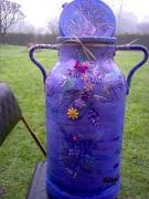 deco design autres bidon violet decoration nature : nature