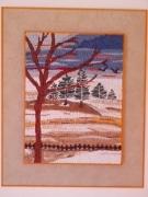 tableau paysages essonne vert le petit paysage montagne : la neige en montagne