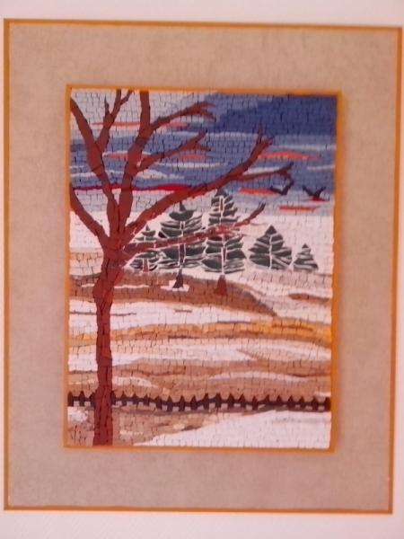 TABLEAU PEINTURE Essonne Vert le Petit paysage montagne Paysages Collage  - la neige en montagne