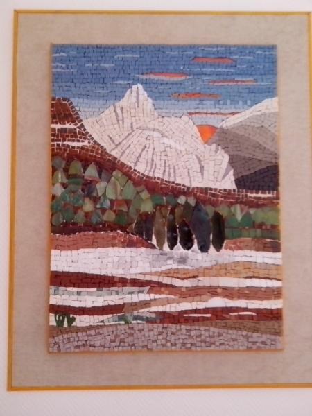 TABLEAU PEINTURE Essonne Vert le Petit paysage montagne Paysages Collage  - en hiver