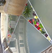Vitrail floral Sant Jordi