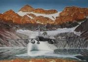 tableau paysages rafale montagne chasseur : Chasseur alpin