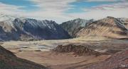 tableau paysages altai mongolie montagne : Altaï, montagne d'or Mongole