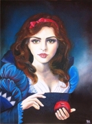 tableau personnages blanche neige pomme snow white princesse : Blanche Neige