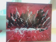 tableau abstrait : incendie