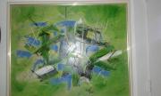 tableau abstrait : bambous