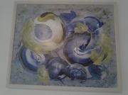 tableau abstrait : escargots