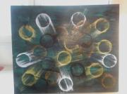 tableau abstrait : galaxy