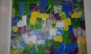 tableau abstrait : marecage