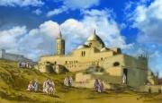 art numerique villes toile djamaa djedid 1830 : Djamaa djedid - Alger 1830