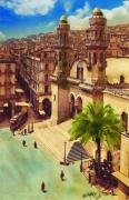 art numerique villes alger mosquee toile autrefois : Mosquée Ketchaoua autrefois