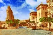 art numerique villes rue michelet alger autrefois : Alger - rue Michelet autrefois