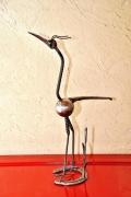 sculpture animaux : l'échassier