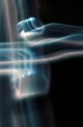 photo abstrait lumiere flou noir mouvement : real blue