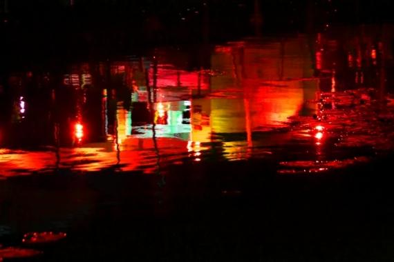 PHOTO lumière nuit rivière Light painting Abstrait  - L'eau de rose,la poésie du cœur
