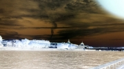 photo abstrait experimentation photographie delphine vigoureux matiere sensible : Au revoir...ville futur !