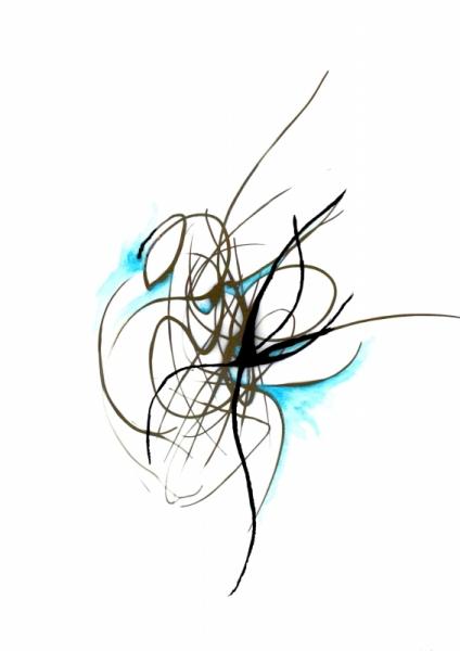 MIXTE femme foetus création mixte delphine vigoureux impression papier Abstrait  - Femme fœtus 1