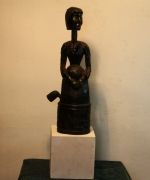 sculpture personnages pipe tabac feu reve : La fumeuse