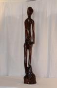 sculpture personnages pause attitude femme regard : Réflexion