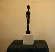 sculpture personnages vieux maladie age : Le vieillard