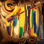 tableau abstrait eau genereuse histoire antique : La vallée des rois(Egypte)