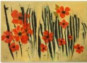 """tableau nature morte soleil printemps petales rouge : Les coquelicots""""Benaamane"""""""