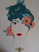 dessin personnages feminite florale glamour colore : laisser s'évader sa féminité