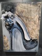 tableau abstrait talon : talon masqué