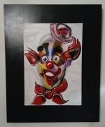 tableau personnages clown cirque : cirque